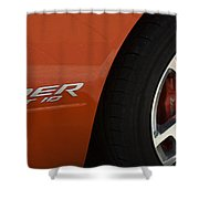 Viper Srt 10 Emblem And Wheel Shower Curtain