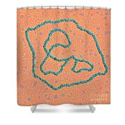 Viral Dna Rings Shower Curtain