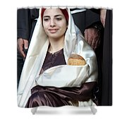 Virgin Mary And Baby Jesus At 4th Annual Christmas March Shower Curtain