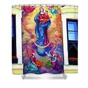 Virgin Mary Mural Shower Curtain