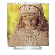 Virgin Mary Statue Shower Curtain