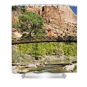 Virgin River And Bridge Shower Curtain