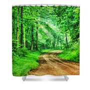 Virginia Back Roads Shower Curtain