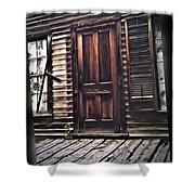 Virginia City Ghost Town Door I Shower Curtain
