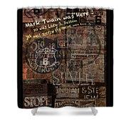 Virginia City Nevada Grunge Poster Shower Curtain