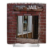 Virginia City Nevada Jail Shower Curtain