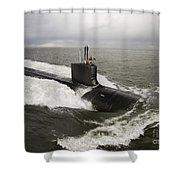 Virginia-class Attack Submarine Shower Curtain by Stocktrek Images