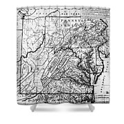 Virginia: Map, C1784 Shower Curtain