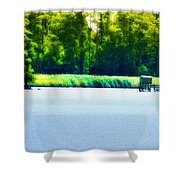 Virginia Tides Shower Curtain by Bill Cannon