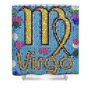 Virgo Zodiac Mosaic Shower Curtain