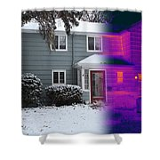 Visible And Infrared Image Of A House Shower Curtain