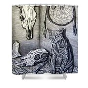 Visions Of Stimus The Cat Shower Curtain