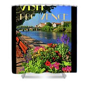 Visit Provence Poster Shower Curtain