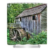 Visiting The Old Mill Shower Curtain