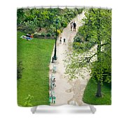 Visitors In The Champ De Mars Shower Curtain