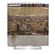Visscher: London, 1650 Shower Curtain