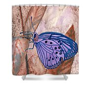 Visualization Butterfly Shower Curtain