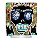 Voodoo Queen Sugar Skull Angel Shower Curtain