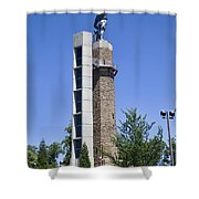 Vulcan Park Statue In Birmingham Shower Curtain