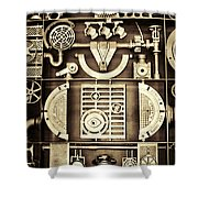 Vulcan Steel Steampunk Shower Curtain