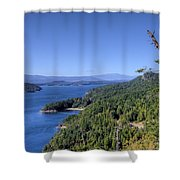 Vulture Ridge View Shower Curtain
