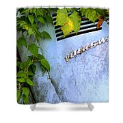Vw Bug With Vines Shower Curtain