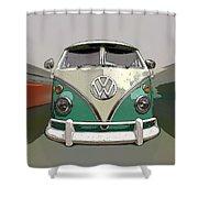 Vw Bus Art Shower Curtain