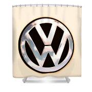 Vw Emblem Shower Curtain