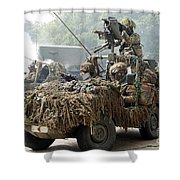 Vw Iltis Jeeps Used By Scout Or Recce Shower Curtain