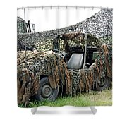 Vw Iltis Of The Special Forces Group Shower Curtain