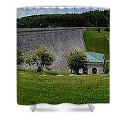Wachusett Dam Panoramic Shower Curtain