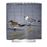 Waders Shower Curtain