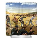 Wagon Box Fight, 1867 Shower Curtain