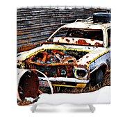 Wagon Of Rust Shower Curtain