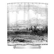Wagon Train, 1859. For Licensing Requests Visit Granger.com Shower Curtain