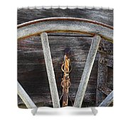 Wagon Wheel Detail Shower Curtain