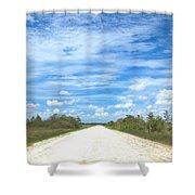 Wagon Wheel Road - 4 Shower Curtain