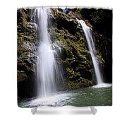 Waikani Falls And Pond Shower Curtain