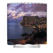 Waikiki At Night Shower Curtain