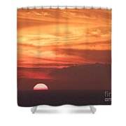 Waikiki Sunset No 4 Shower Curtain