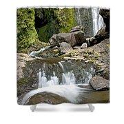 Wailua Falls And Rocks Shower Curtain