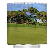 Wailua Golf Course - Hole 17 - 3 Shower Curtain