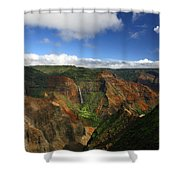 Waimea Canyon Landscape Shower Curtain