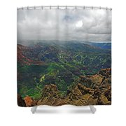 Waimea Canyon Weather Shower Curtain