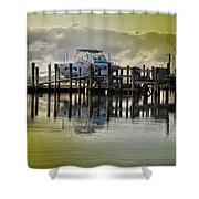 Waiting Boats Shower Curtain