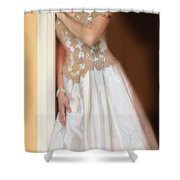 Waiting By The Door Shower Curtain by Jill Battaglia