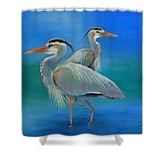 Waiting For Fish Shower Curtain