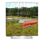 Waiting For One Last Summer Voyage Shower Curtain
