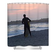 Waiting For The Wave Shower Curtain