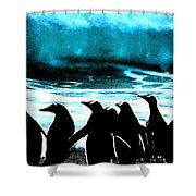 Waiting To Take Action Shower Curtain by Colette V Hera  Guggenheim